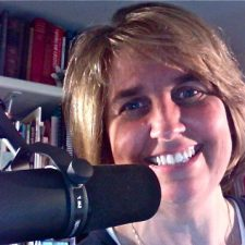 Pat at Microphone